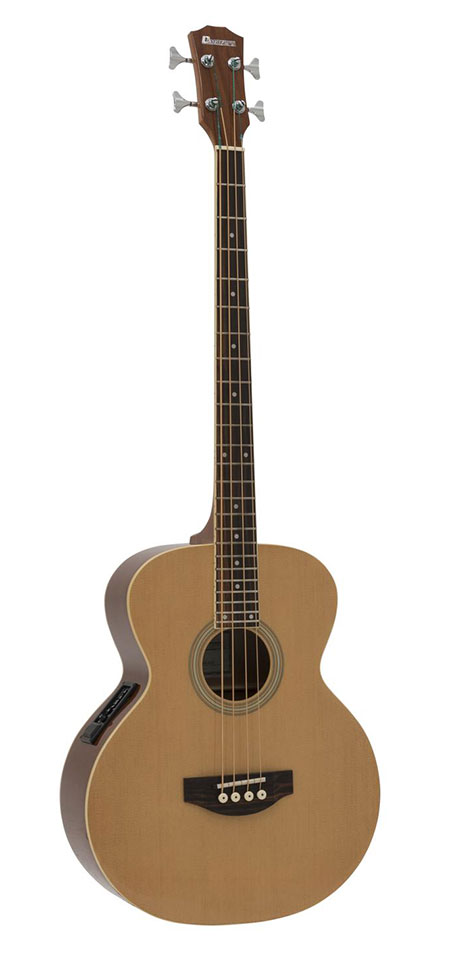 Dimavery AB-450 Acoustic Bass Guitar wit