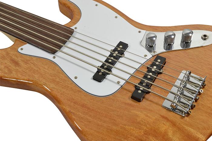 5 string fretless bass guitar tuner gig bag and stand bass guitars. Black Bedroom Furniture Sets. Home Design Ideas