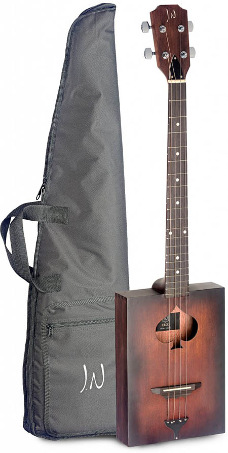 acoustic cigar box guitar 4 string with soft case acoustic guitars. Black Bedroom Furniture Sets. Home Design Ideas