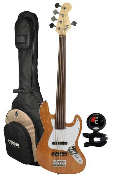 5 string fretless bass guitar tuner and gig bag bass guitars. Black Bedroom Furniture Sets. Home Design Ideas