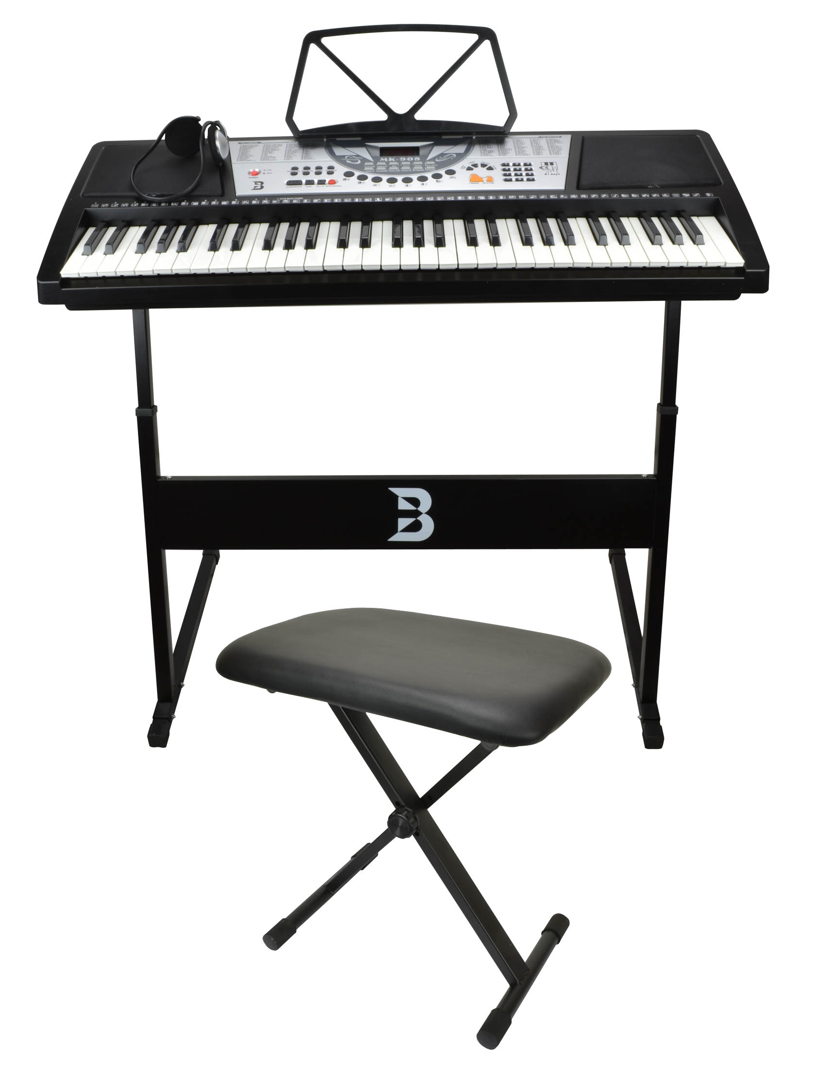 Electronic keyboard set including bench stand and Keyboard stand and bench