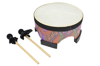 "Percussion Floor Drum 8""  Natural%2"