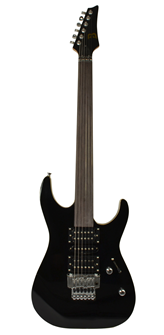 Fretless Electric Guitar Black by Bryce