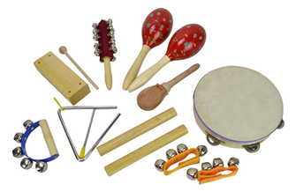 Percussion Set with 9 Items