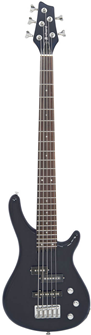 5 String Black Electric Bass Guitar