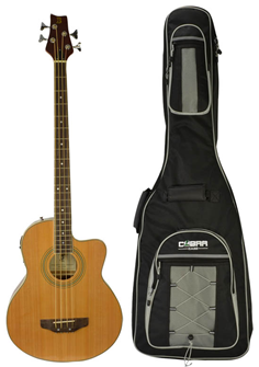 Acoustic 4 String Bass Guitar with Gui