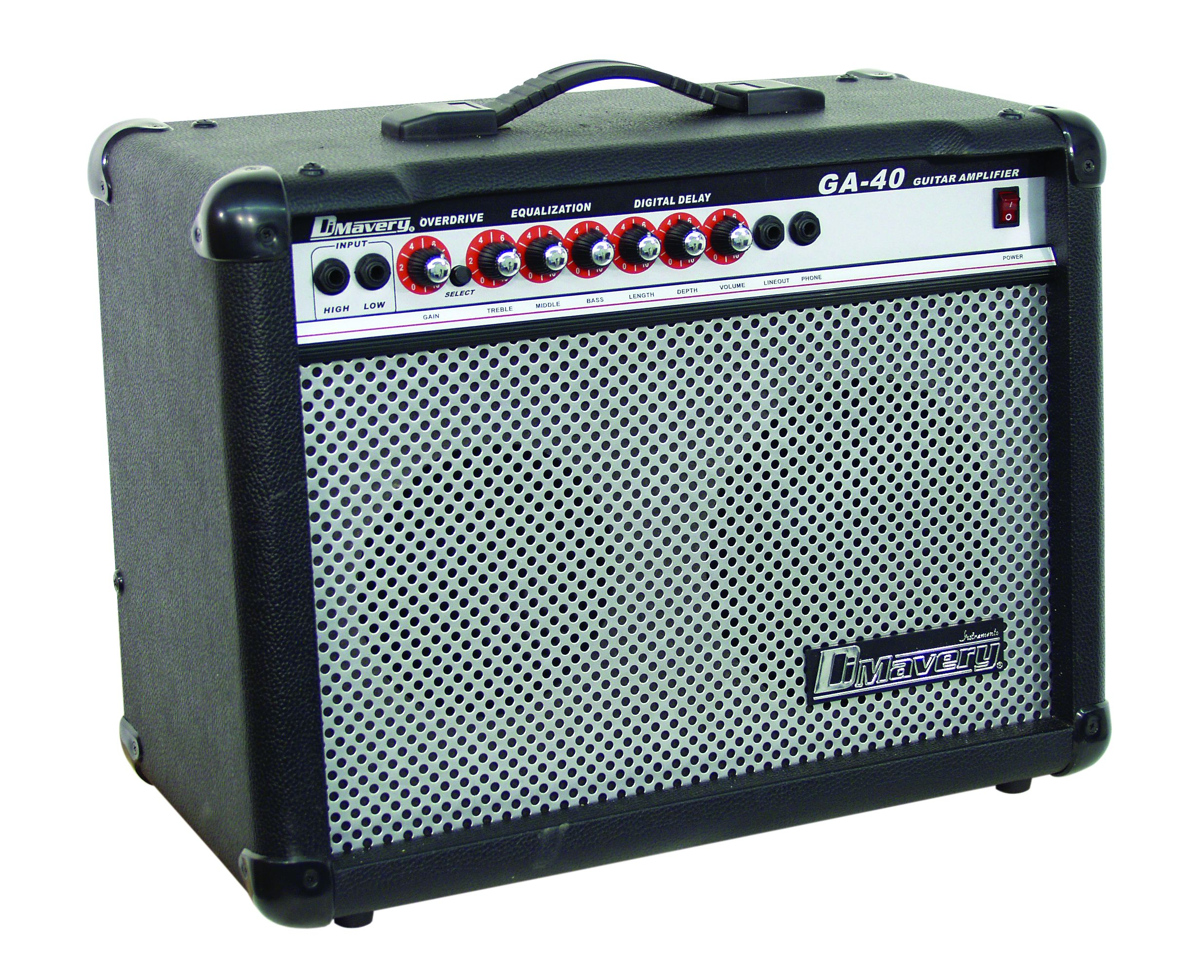 dimavery electric guitar amplifier 40w guitar amplifiers. Black Bedroom Furniture Sets. Home Design Ideas