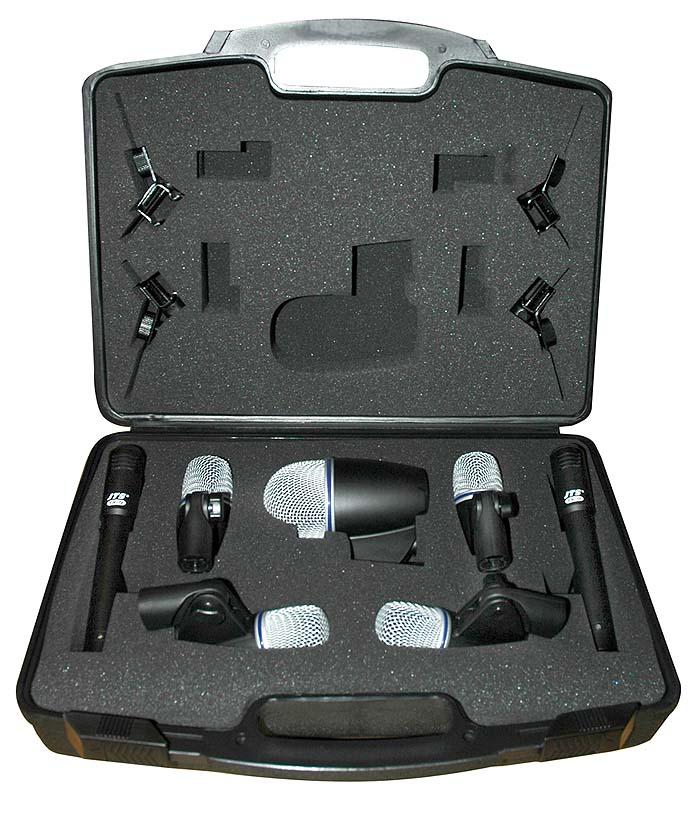 jts 7 piece drum microphone set microphones. Black Bedroom Furniture Sets. Home Design Ideas
