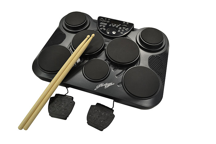 electronic drum machine 7 drum pads and 215 voices electronic drums. Black Bedroom Furniture Sets. Home Design Ideas