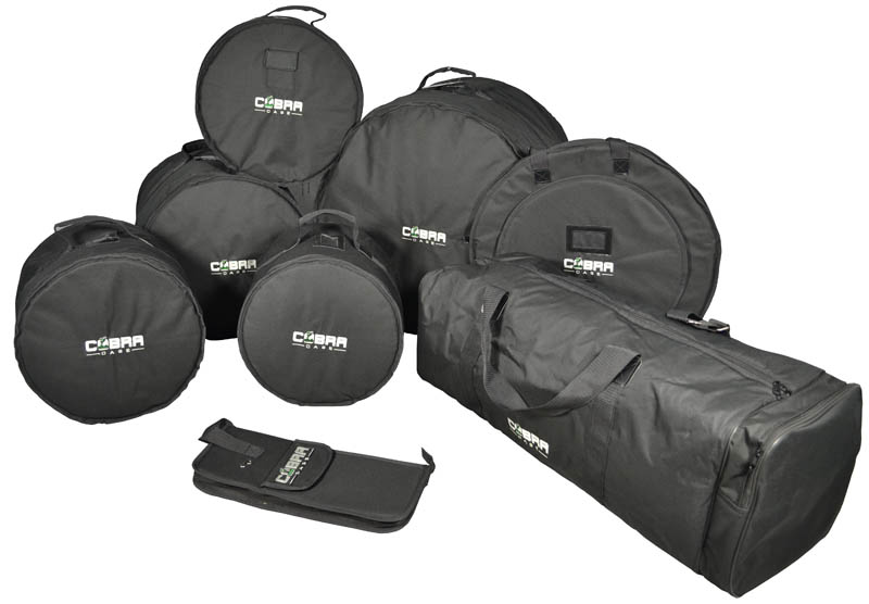 Cobra Padded 8 Piece Drum Set Bags- 2 YEAR Guarantee 5055177124665 ... e7dbeb8170044