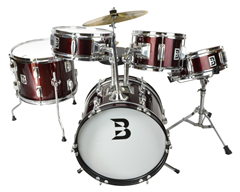 Childrens 5 Piece Drum Kit in Red