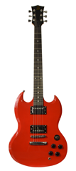 Electric Guitar Six String SG Style by