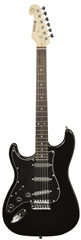 Traditional Style Black Electric Guitar