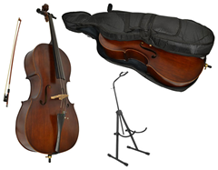 Full Size Student Cello with Stand