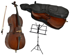 Full Size Student Cello with Music Sta