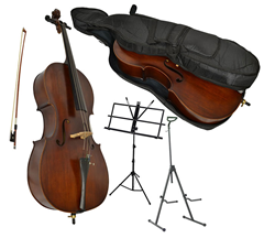 Sotendo 1/2 Size Student Cello with St