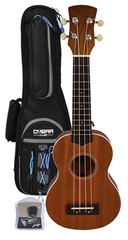 Soprano Ukulele, Gig Bag and Tuner b