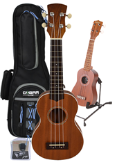 Soprano Ukulele, Gig Bag, Stand and%