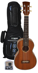 Concert Ukulele, Gig Bag and Tuner b