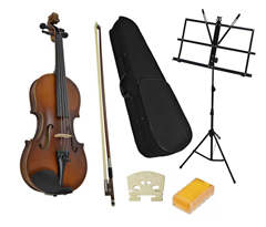 Student 1/2 Violin and Music Stand by%