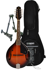 Mandolin A Style, Gig Bag and Stand%