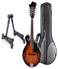 Mandolin F Style, Gig Bag and Stand%