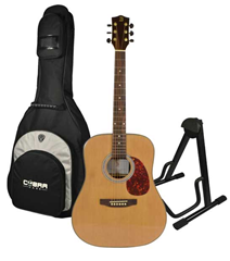 Acoustic Guitar BFG088S, Stand and Gig