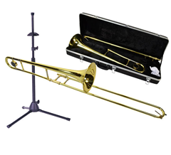 Trombone, Bag and Stand