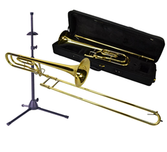 Tenor Slide Trombone, Bag and Stand