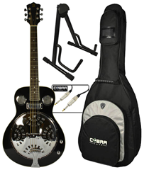 Electro-Acoustic Resonator Guitar and Acce