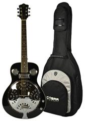 Electro-Acoustic Resonator Guitar with Gig