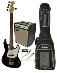 Electric 5 String Bass Guitar with 20w