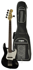 Electric 5 String Bass Guitar and Gig%