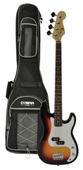 Electric 4 String Bass Guitar and Gig%