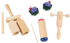 Wooden Percussion Set with Bag