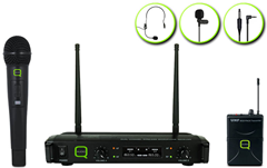 Dual UHF Microphone System by Q-Audio
