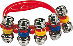 Coloured Hand Bells with 5 Jingles