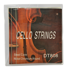 Cello String Set 4/4, 3/4, 1/2, 1/4, 1/8 Nickel Chromium Wound with Steel Core by Sotendo