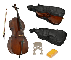 Student Cello 1/2 Size with Softcase b