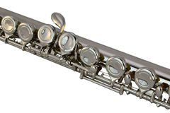16 Hole Nickel Plated Flute