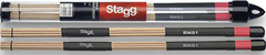Stagg Maple Brush Drumsticks- Light