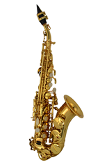 Curved Body Soprano Saxophone & Case