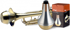 Straight Practice Mute for Trumpet with Brass Button