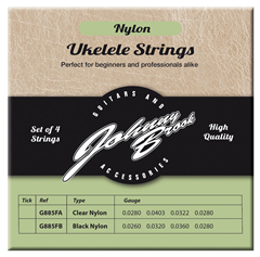 Ukulele Strings - Black Nylon