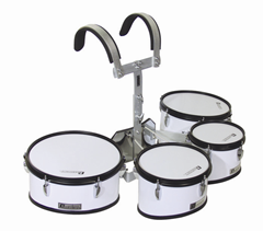 Dimavery MT-430 Marching Drum Set, Whi