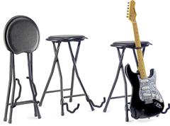 Stagg Stool With Built in Guitar Stand