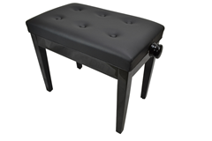 Piano Bench High Gloss Black Adjustable Height